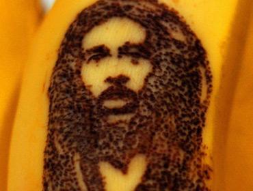 Портреты знаменитостей на бананах