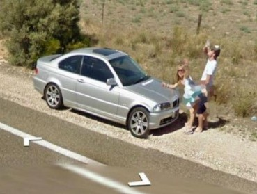 Google Street View «застукал» парочку