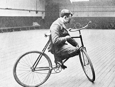 Трюки эдвардианских велосипедистов