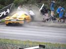 Сумасшедший автомобиль смял толпу зрителей