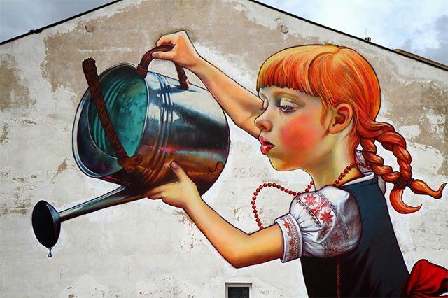 Гигантская фреска от Наталии Рак