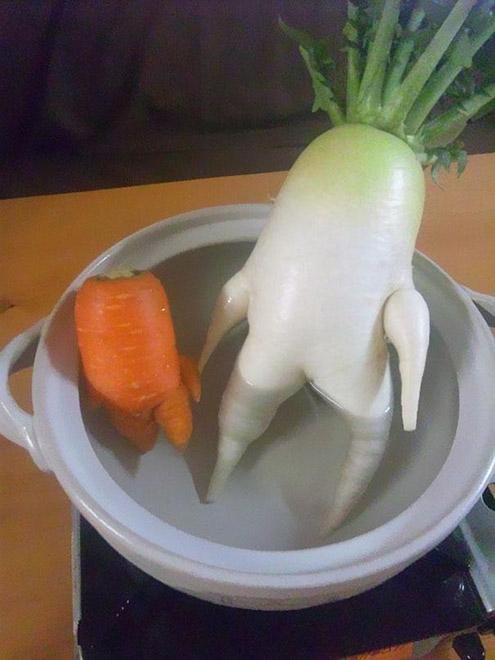 1. Редька и морковь в джакузи