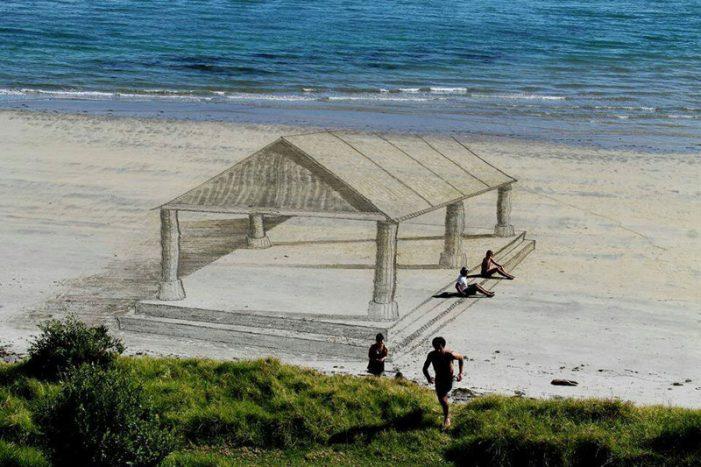3D-художества на песке