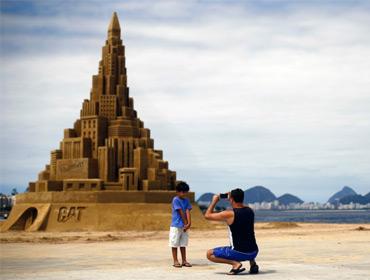 Самый высокий замок из песка