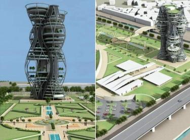 Проект вертикального некрополя в Дели, Индия.