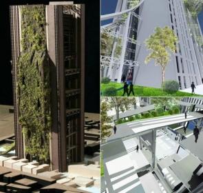 """Проект """"зеленого"""" вертикального кладбища в Бомбее, Индия."""