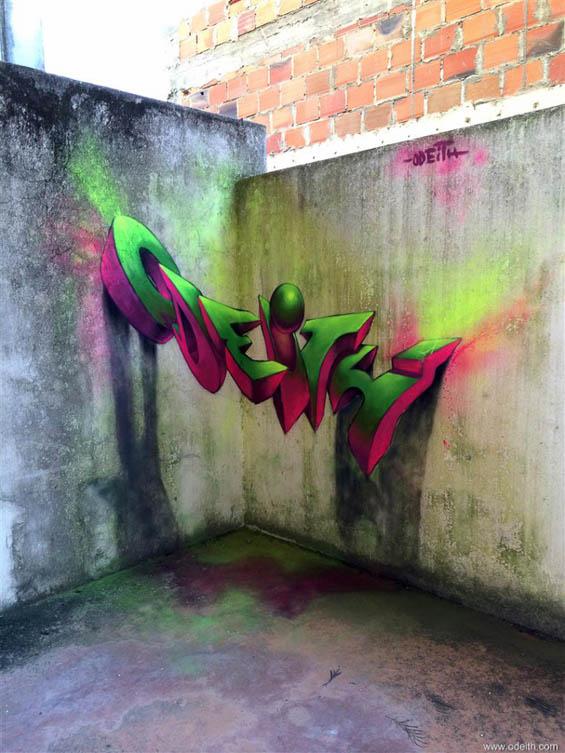 Удивительные 3D-граффити