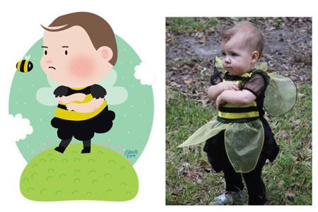 Художница превращает младенцев в мультяшных персонажей