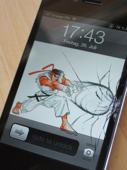 Топ-10 «украшательств» разбитого экрана