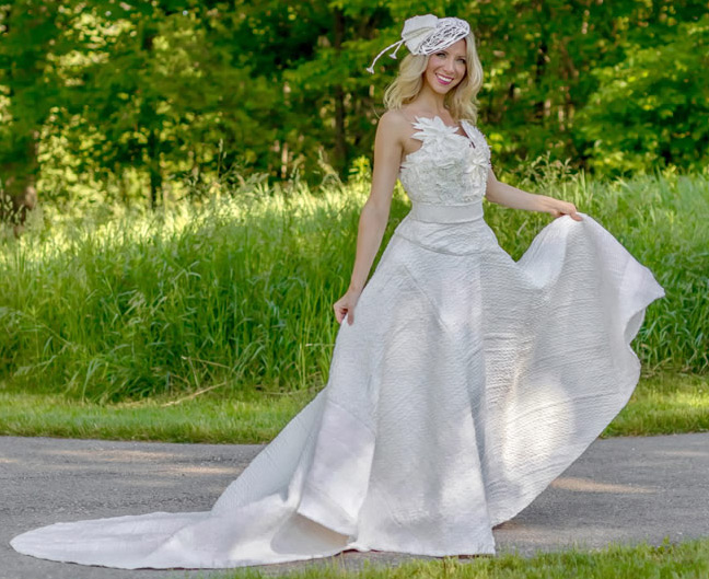 Свадебные платья из туалетной бумаги