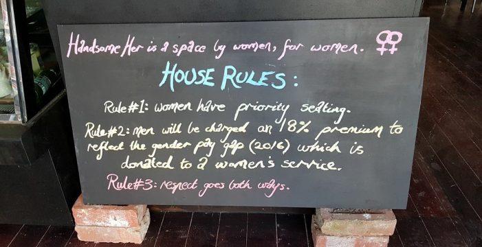 В этом странном кафе с мужчин берут больше, чем с женщин