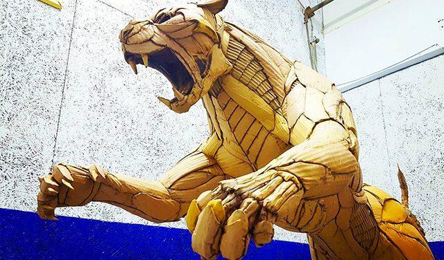 Картонные скульптуры Кай-Сян Схонга